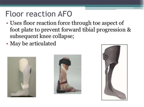floor reaction afo cascade orthosis
