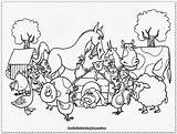 Coloring Farm Pages Animals Diy Activities Crafts Ducks sketch template