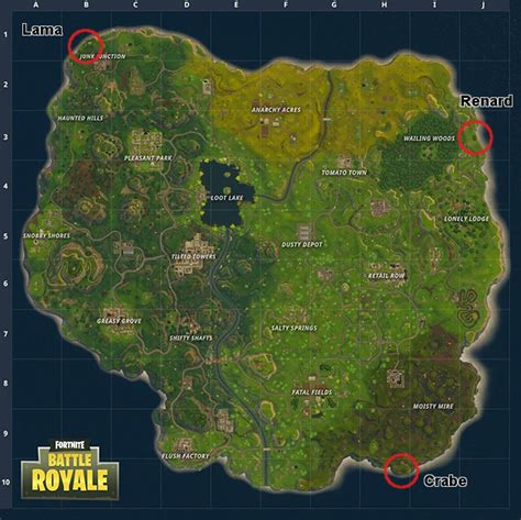 guide fortnite battle royale saison  ou trouver le