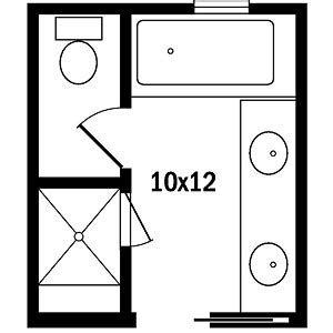 Large Bathroom Floor Plans Master Bath Floor Plans