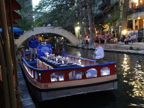 San Antonio River Boat Dinner by Preparing For The Dinner Cruise Picture Of Boudro S San