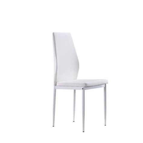 lot de 4 chaises blanches lot de 4 chaises blanches raul en similicuir achat vente
