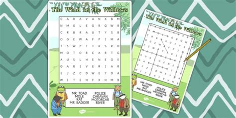 the wind in the willows wordsearch the wind in the willows