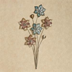 Evening flowers metal wall art