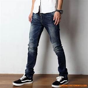 Jean Bleu Troué Femme : jeans slim homme pas cher ~ Melissatoandfro.com Idées de Décoration