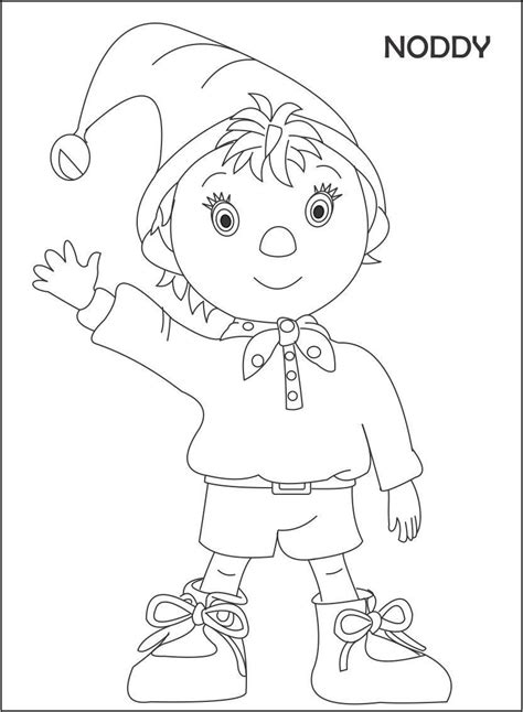 Coloring Clip by Noddy Coloring Pages Noddy Coloring Pages