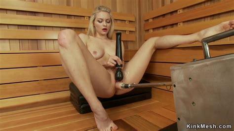 Shaved Pussy Solo Blonde Fucks Machine Alli Rae Porn Videos
