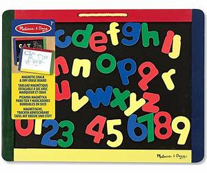 melissa doug magnetic chalk dry erase board with numbers With magnetic letters and numbers and board