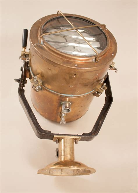 vintage koito ind  brass daylight signaling lamp