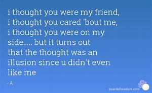 i thought you were my friend quotes Quotes