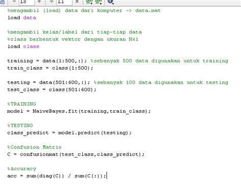 Baixar naive bayes matlab classifier code
