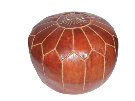 pouf en cuir marocain pouf marocain en cuir tourismedia destockage grossiste