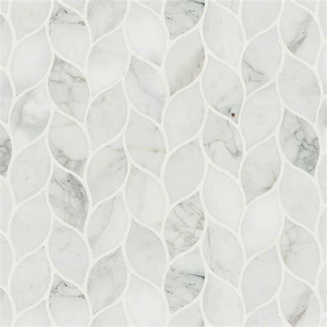 Marble Mosaic Tile by Calacatta Blanco Polished Marble Mosaic Tile Smot Calbla