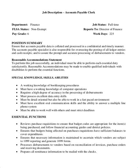 Accounts Payable Description For Resumeaccounts Payable Description For Resume by Data Entry Description Functional Resume For An