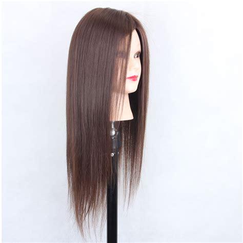 tete de mannequin avec cheveux pour entrainement salon coiffure 45cm