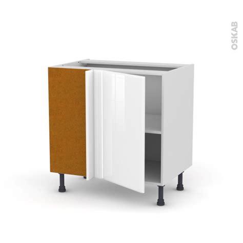 pieds meuble cuisine meuble de cuisine angle bas réversible iris blanc 1 porte