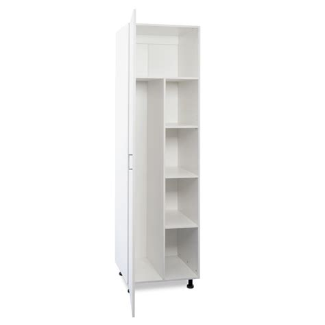 Thin Single Wardrobe by Flatpax Kitset 600mm Utility Broom Cupboard 1 Door White