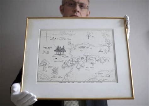 Original 1926 Winnie-the-pooh Illustrated Map Breaks