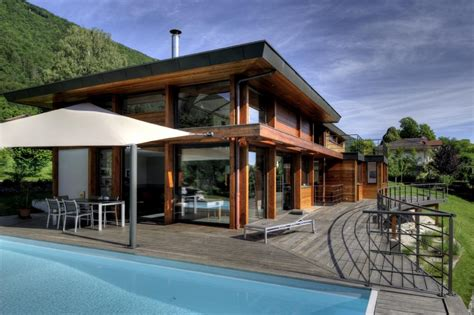 ossature bois terrasse et piscine