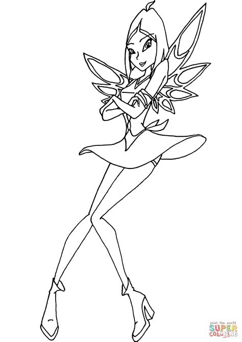 winx club amaryl coloring page  printable coloring pages