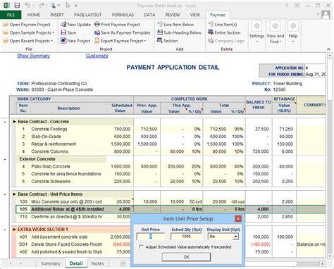 progress payment billing software print  aia