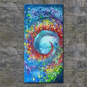Gemalte Bilder Auf Leinwand : nettis art acrylbild kunst leinwand handgemalt malerei keilrahmen bunt abstrakt in antiquit ten ~ Frokenaadalensverden.com Haus und Dekorationen