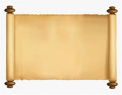 Scroll Letter Clipart Paper Transparent Papyrus Ppt