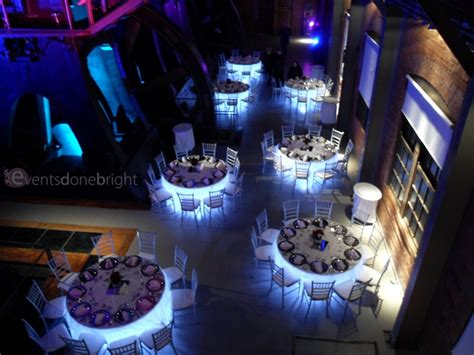 table lighting adds  special wow factor