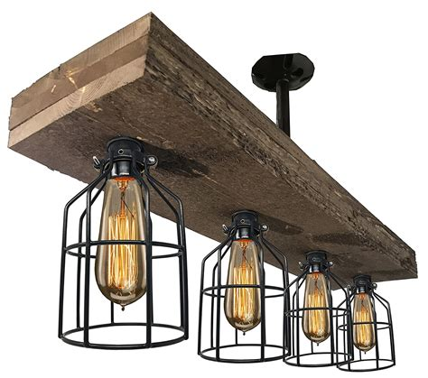 vintage style triple wood beam chandelier king