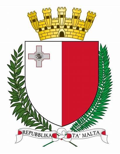 Arms Coat Crest Malta Heraldry Maltese