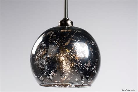 mercury glass edison bulb pendant light fixture small