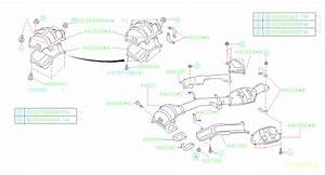 1999 Subaru Forester Catalytic Converter  Front   Exhaust