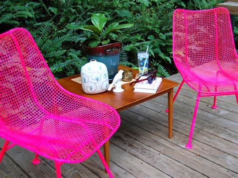 ideas for painting metal patio furniture landscaping