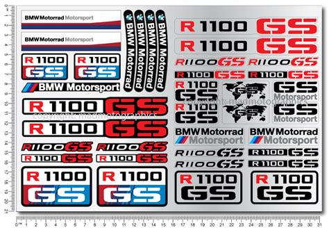 R1100gs Motorcycle Motorrad Decal Sticker Set 37 Quality