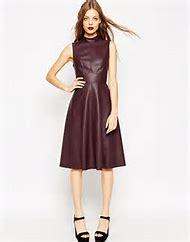 Leather Skater Dress