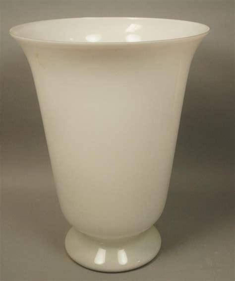 Large White Vase by Modern Large White Glass Trumpet Form Floor Vase