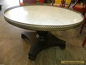 vintage retro marble top round accent foyer or wood coffee With vintage round marble coffee table