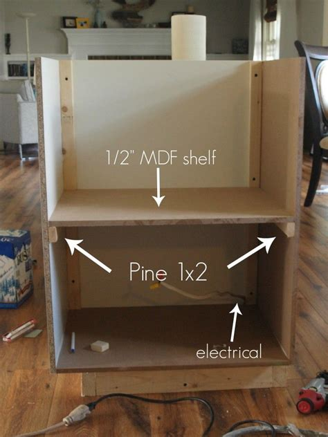 counter microwave cabinet  ikea  island