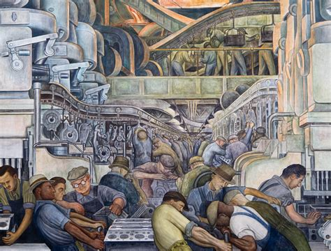 the detroit industry murals in detroit s rivera and kahlo exhibit a portrait of a resilient city npr