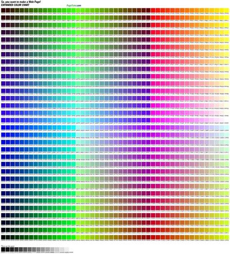 Color Chart Html Hex Color Codes  Places To Visit