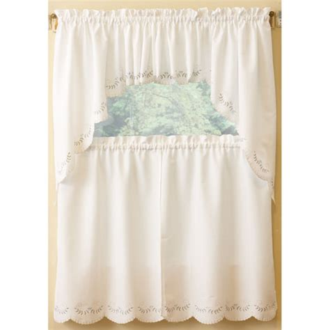 Boscovs Kitchen Curtains by Forget Me Not Embroidered Tier Curtain Boscov S