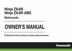 Kawasaki Ninja Zx-6r 2015 Owner U0026 39 S Manual