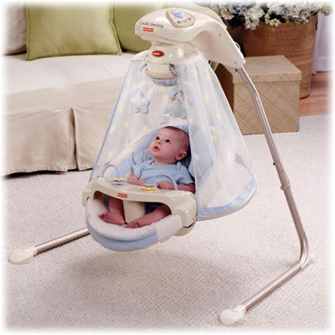 Which Baby Swings In by The Starlight Papasan Cradles And Swings Your Baby To