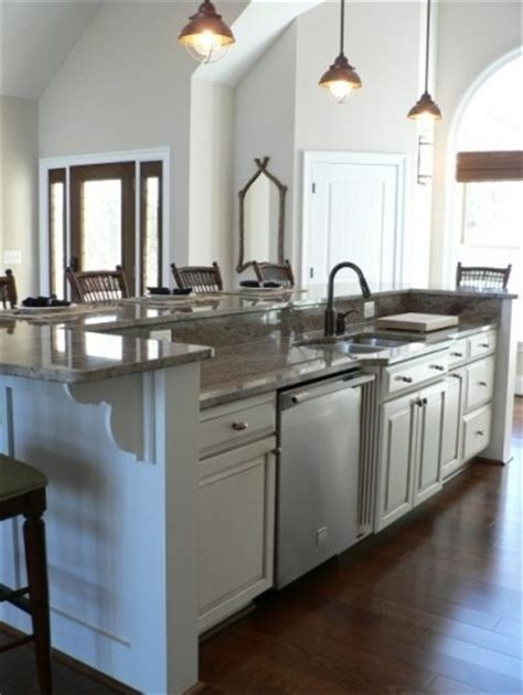 kitchen islands with raised bar raised bar kitchen island for the home a 9467