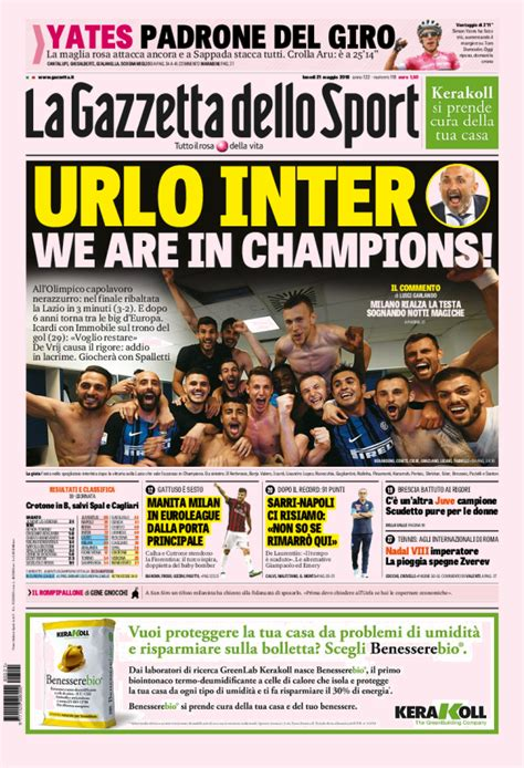 Sede Gazzetta Dello Sport Giornali Sportivi Prima Pagina Quotidiani Sportivi On Line