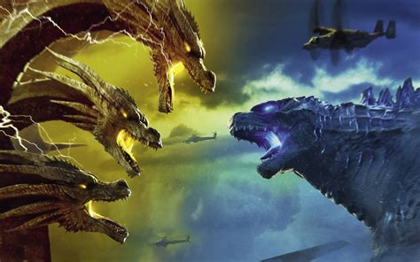 wallpaper godzilla king   monsters king ghidorah