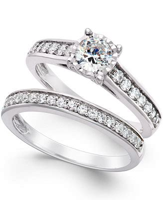 trumiracle bridal engagement ring in 14k white
