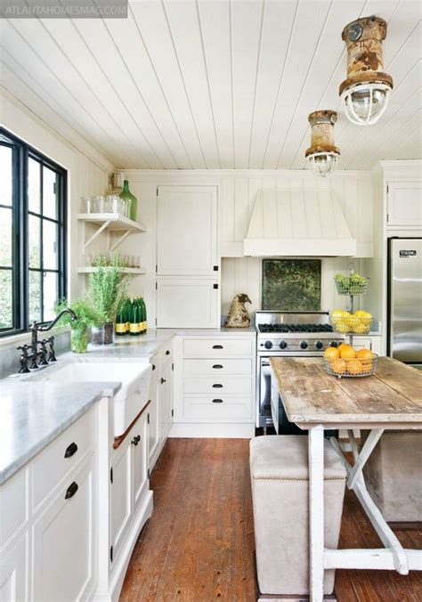 cottage kitchen island cottage farmhouse kitchens inspiring in white