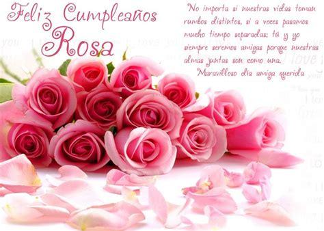 feliz cumpleanos rosa happy birthday  friend pinterest