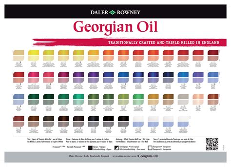 red oil paint color names georgian oil daler rowney